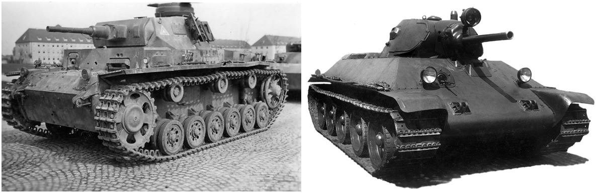 Panzer III Ausf. J and T-34 M1941. The best tanks each army deployed in 1941