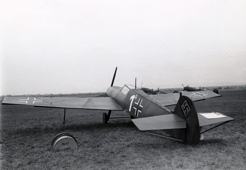 Dummy wooden Messerschmitt fighter constructed by the Luftwaffenbautruppen as a decoy