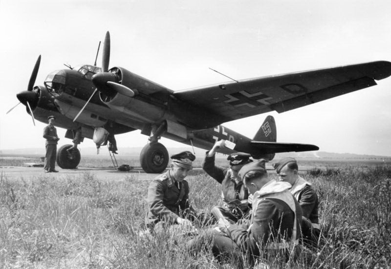 Junkers Ju 88A-4 and 4-man crew.